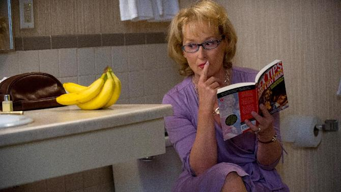 """This film image released by Columbia Pictures shows Meryl Streep as Kay Soames in a scene from """"Hope Springs."""" Streep was nominated Thursday, Dec. 13, 2012 for a Golden Globe for best actress in a comedy for her role in the film.  The 70th annual Golden Globe Awards will be held on Jan. 13.  (AP Photo/Columbia Pictures-Sony, Barry Wetcher)"""