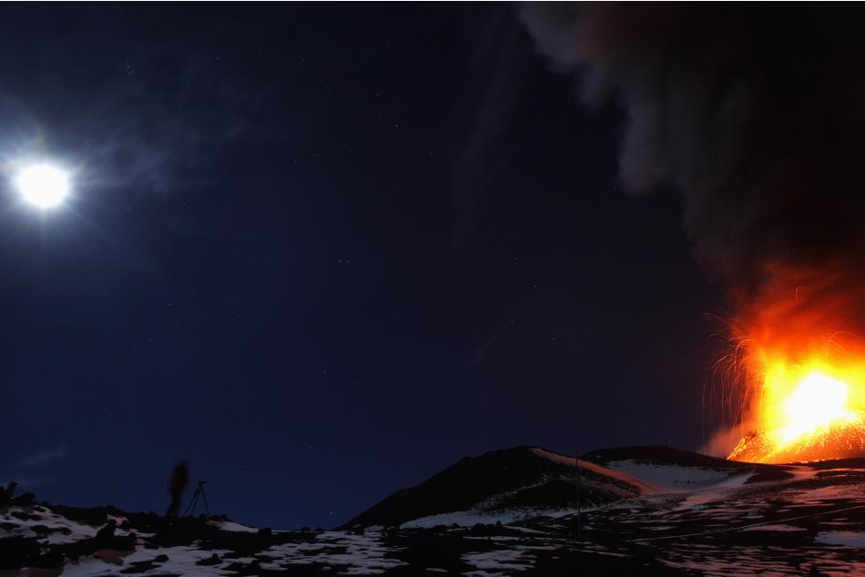 Italy's Mount Etna erupts on the southern island of Sicily