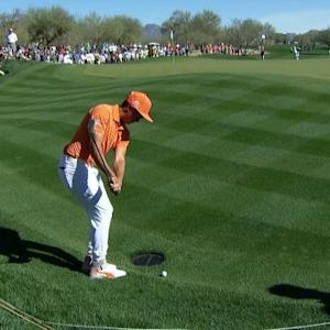 Rickie Fowler gets up-and-down for birdie at Waste Management