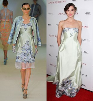 Keira Knightley's Colourful Week On The Red Carpet: She Wears Mint Erdem Gown To The LA Premiere Of Anna Karenina