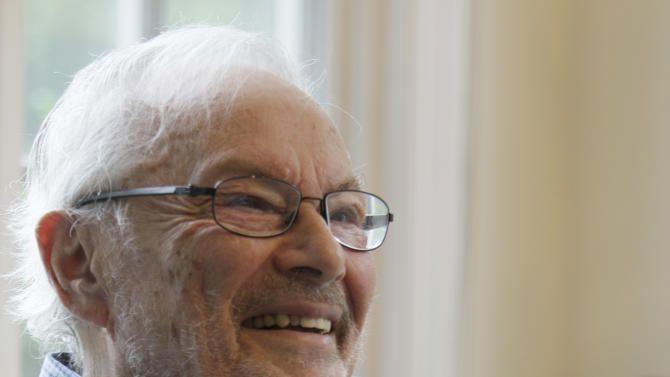 """FILE - In this Sept. 6 2011 file photo, children's book author Maurice Sendak is photographed doing an interview at his home in Ridgefield, Conn.  Sendak, author of the popular children's book """"Where the Wild Things Are,""""  died, Tuesday, May 8, 2012 at Danbury Hospital in Danbury, Conn. He was 83. (AP Photo/Mary Altaffer, file)"""
