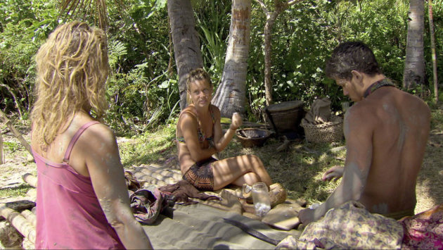 "Lisa Whelchel, Abi-Maria Gomes and Peter ""Pete"" Yurkowski in the ""Survivor: Philippines"" episode, ""Little Miss Perfect."""