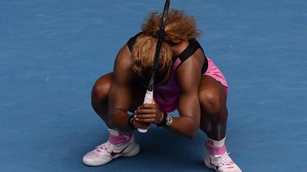 Serena Williams crashes out at the Australian Open (AFP)