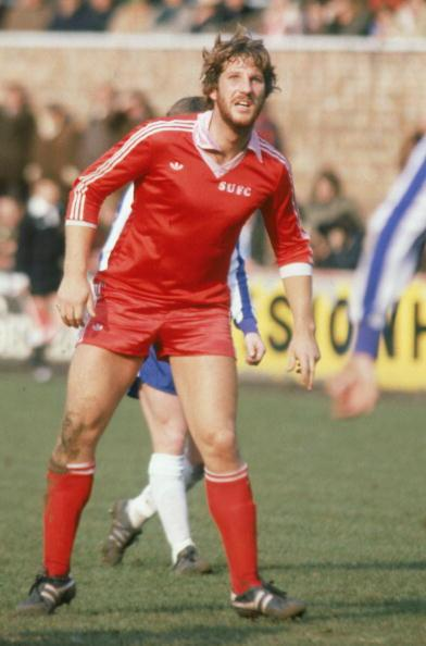SCUNTHORPE - MARCH 29:  Ian Botham of Scunthorpe United in action during the League Division Four match between Scunthorpe United and Wigan Athletic held on March 29, 1980 at the Old Show Ground, in S