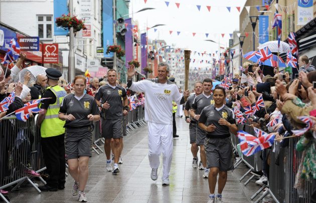 Day 49 - The Olympic Torch Continues Its Journey Around The UK