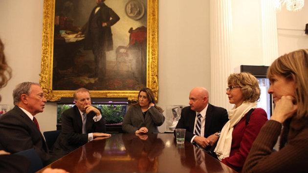 Bloomberg, Giffords meet on gun control