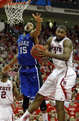 No. 20 NC State upsets No. 1 Duke 84-76