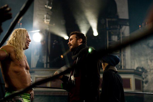 Mickey Rourke Director Darren Aronofsky The Wrestler Production Stills Fox Searchlight 2008