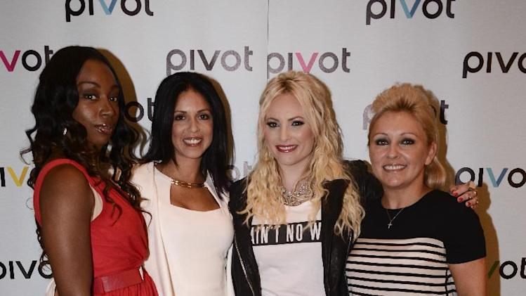 From left to right, Jersey Strong stars Jayda Jacques, Brooke Barnett, Raising McCain host Meghan McCain, and Mag Voelkel at Pivot's debut panel during the summer TCA at the Beverly Hilton Hotel on Friday, July 26, 2013 in Beverly Hills, Calif. Pivot presents it's network and series launch starting August 1, 2013. (Photo by Dan Steinberg/Invision for Pivot/AP Images)