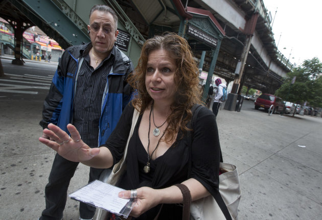 Folklorist Elena Martinez of City Lore, and her partner Bobby Sanabria, talk about their tours of The Bronx borough of New York,  Wednesday, May 22, 2013.  A company that offered tourist treks to the