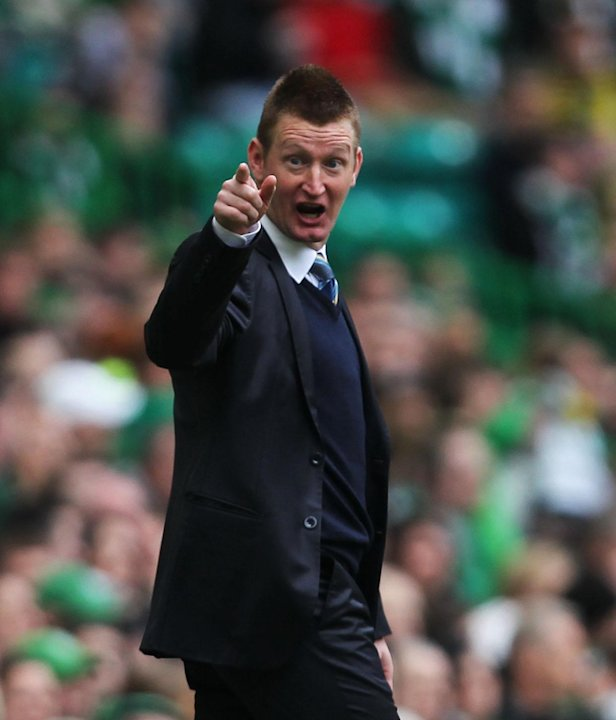 St Johnstone manager Steve Lomas was named September's SPL manager of the month