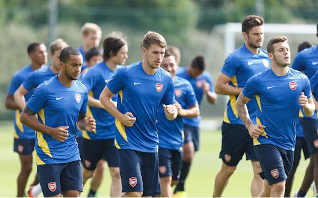 Soccer - UEFA Champions League - Play-Off Round - Second Leg - Arsenal v Fenerbahce - Arsenal Training Session - London Colney