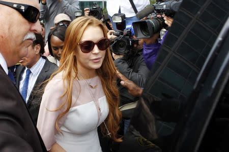 File photo of Actress Lindsay Lohan departing from court after a plea deal at the Airport Branch of the Los Angeles Superior Courthouse in Los Angeles