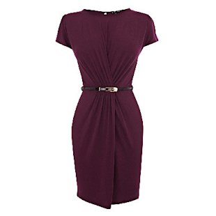 Gauged Wrap Dress Warehouse: Shift Dresses: Office: What To Wear