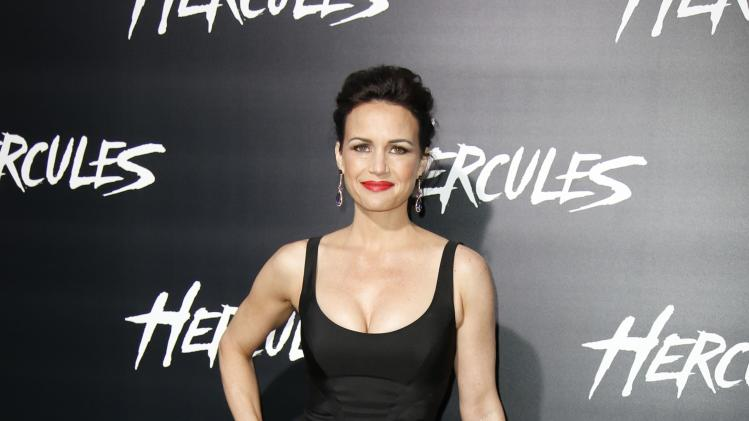 "Actress Gugino poses at the Los Angeles premiere of ""Hercules"" in Hollywood, California"