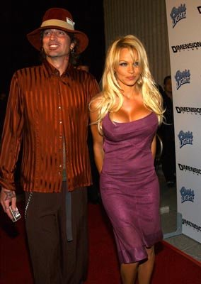 Premiere: Tommy Lee and Pamela Anderson at the LA premiere of Dimension's Scary Movie 3 - 10/20/2003