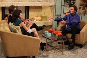 Bruce Jenner catches up with Billy Bush and Kit Hoover on Access Hollywood Live on November 3, 2010 -- Access Hollywood