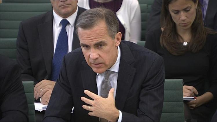 The Governor of the Bank of England Mark Carney speaks to parliament's Treasury Committee, in Westminster, London