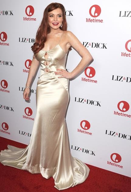 Lindsay Lohan arrives at the 'Liz & Dick' Los Angeles premiere at Beverly Hills Hotel in Beverly Hills, Calif. on November 20, 2012  -- Getty Premium