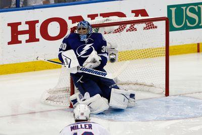Ben Bishop makes incredible snow angel save in Game 6