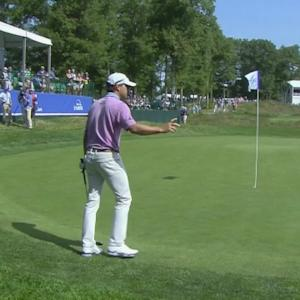 Kevin Kisner holes out for birdie at No. 17 at Deutsche Bank
