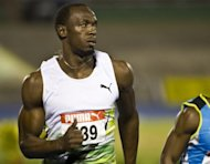 Jamaican sprinter Usain Bolt, pictured during the 100m men's qualification heat at the Jamaican Olympic Athletic Trials at the National Stadium in Kingston, on June 28. Bolt won his quarter-final by easing to a 10.06