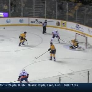 Pekka Rinne Save on Anders Lee (10:58/2nd)