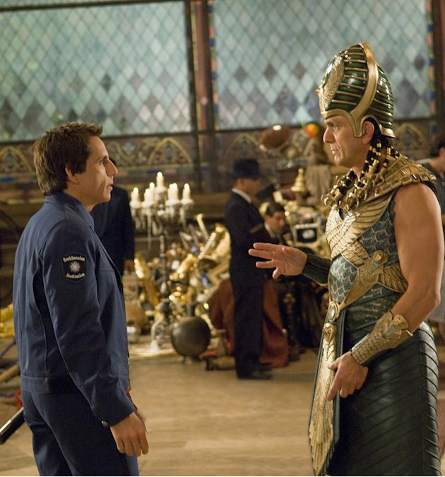 Night at the Museum: Battle of the Smithsonian Production Photos 2009 Twentieth Century Fox Ben Stiller Hank Azaria
