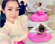 Lizzy reveals photos of herself in Hanbok