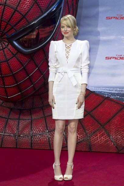 "Cast member Emma Stone poses before the German premiere of the movie ""The Amazing Spider-Man"" in Berlin"