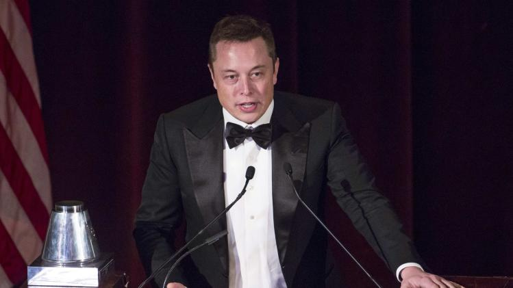 CEO & CTO of SpaceX and CEO & Chief Product Architect of Tesla Motors Elon Musk at the 110th Explorers Club Annual Dinner in New York