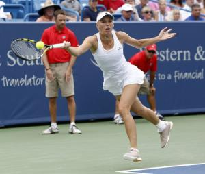 Wozniacki rallies for win at New Haven