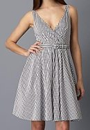 Lord & Taylor gingham wrap dress, $99.