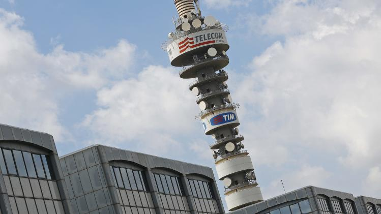The Telecom Italia tower is seen south of Rome