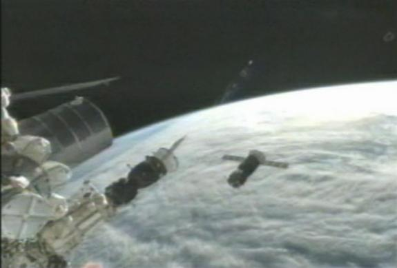 Russian Cargo Spacecraft Docks With Space Station on 2nd Try