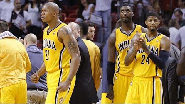 NBA - Pacers upset Heat in Miami to level series
