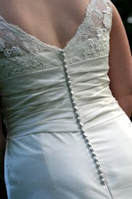 wedding dress from back