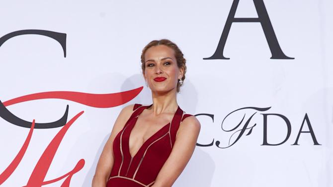 Model Petra Nemcova arrives for the 2015 CFDA Fashion Awards in New York