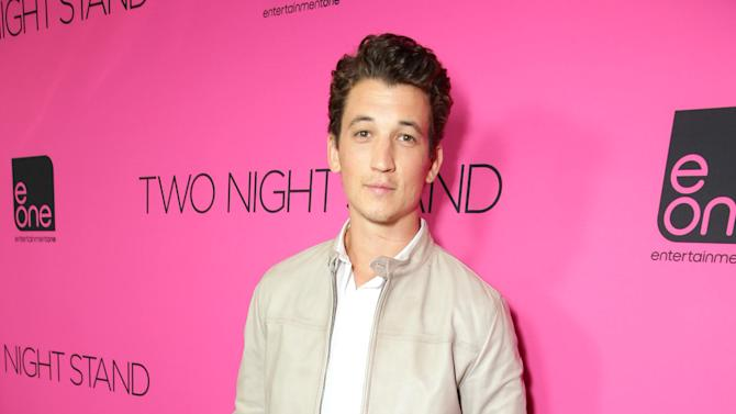 "Miles Teller seen at eONE Films US Los Angeles Premiere of ""Two Night Stand"" on Tuesday, Sep 16, 2014, in Los Angeles. (Photo by Eric Charbonneau/Invision for eONE Films US/AP Images)"
