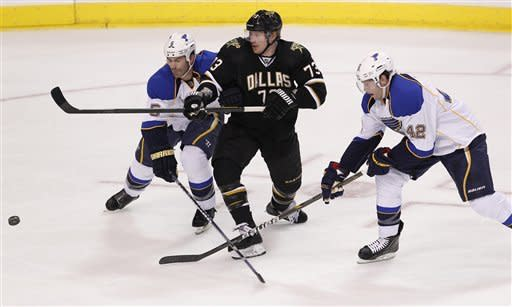 Steen, Perron score PP goals as Blues top Stars