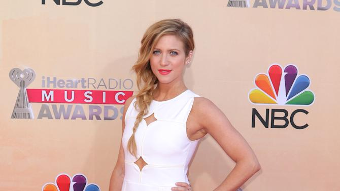 Brittany Snow arrives at the iHeartRadio Music Awards at The Shrine Auditorium on Sunday, March 29, 2015, in Los Angeles. (Photo by John Salangsang/Invision/AP)