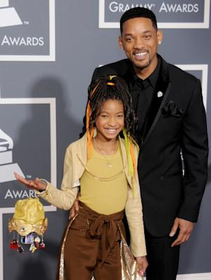 Willow Smith and Will Smith arrive for the 53rd Annual GRAMMY Awards at the Staples Center in Los Angeles on February 13, 2011 -- FilmMagic