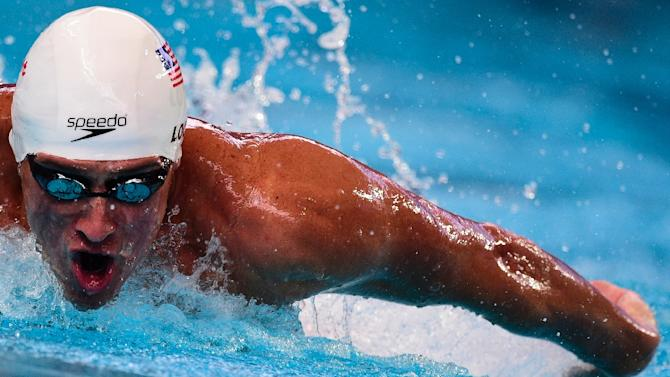 Ryan Lochte of the US competes in the preliminary heats of the men's 200m individual medley at the swimming World Championships in Kazan on August 5, 2015