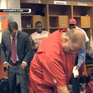 Kansas City Chiefs celebrate victory over Miami Dolphins