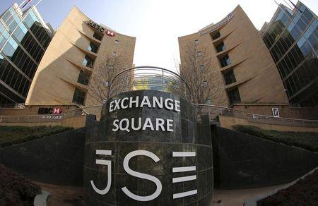 A general view of the Johannesburg Stock Exchange building in Sandton
