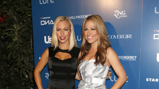 Kendra Wilkinson and Jessica Hall attends the US Weekly AMA After Party for The Wanted at Lure on Sunday November 19, 2012 in Los Angeles, California.  (Photo by Todd Williamson/Invision/AP Images)