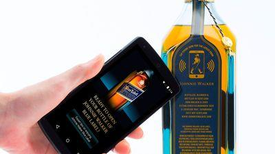 New 'Smart' Johnnie Walker Blue Bottle Sends Weird Messages to Your Phone