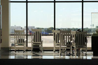 Why do so many airports have rocking chairs?