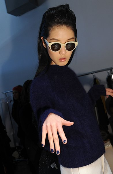 Navy at Karen Walker