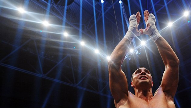 Wladimir Klitschko Of Ukraine Celebrates Bongarts/Getty Images